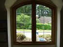 Arched Window after glass replacement