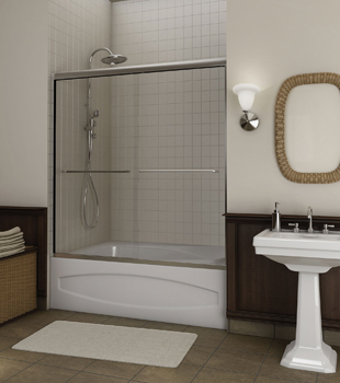 Frameless Bath Shower Combo Doors