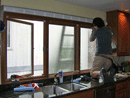 Privacy glass during installation