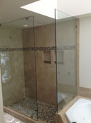 Newly Installed Frameless Glass Shower