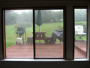 Foggy Sliding Glass Doors