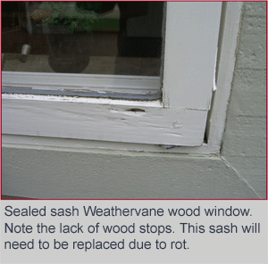 Weathervane Sealed Sash wood window