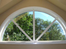 Repaired Half Circle Window